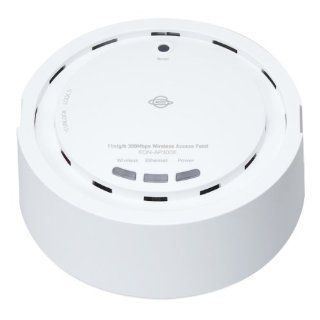 PLANEX EQN AP300E 300Mbps Wireless N PoE Access Point/Repeater w/Ant Smoke Detector Style Wall Mountable Access Point/Repeater Long Range Ceiling Mount 300Mbps Wireless N PoE Power over Ethernet Access Point/Universal Repeater w Embedded high gain antenna
