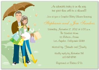Hip Couples Baby Shower Invitations   Set of 20  Baby Shower Party Invitations  Baby