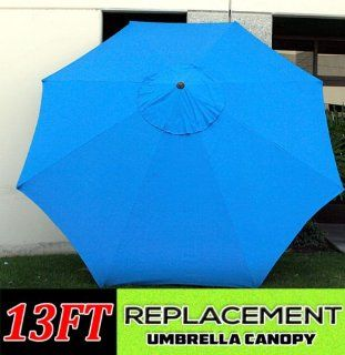 New Market Patio Umbrella Replacement Canopy Canvas Cover 8' 9' 10' 11' 13' ft (13', Blue)