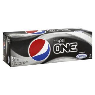 Pepsi One Cola Soda 12 oz, 12 pk
