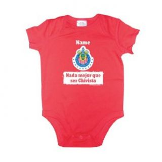 Mexican Soccer Team Chivas Baby Bodysuit 6MO Personalized: Apparel: Clothing