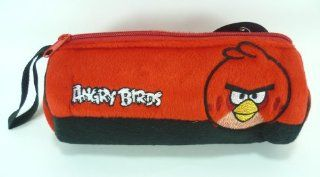Angry Birds Soft Plush Skin Pencil Case, Stationery Bag, Pouch, Cosmetic Bag (Red)   gift for kid, boy, girl, children, son, daughter, nephew, niece, school, birthday, christmas, pen, ruler, erazer, toys, cosmetic, lipstick, mascara.: Toys & Games