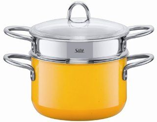 Silit 3 3/4 Quart Pasta Pot with Insert, Crazy Yellow Kitchen & Dining