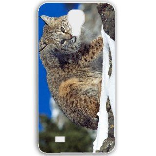 Samsung Galaxy S4 i9500 Cases Customized Gifts For Animals cold stare bobcat Animals Birds White: Cell Phones & Accessories