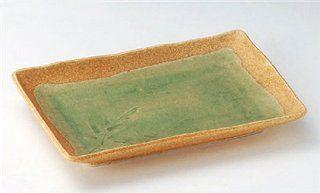 GREEN SAI Jiki Japanese traditional Porcelain Set of 10 Medium Plates made in JAPAN Kitchen & Dining