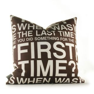 Inhabit Graphic Pillows First Time Synthetic Pillow FTCHxxP Size: 18 x 18,