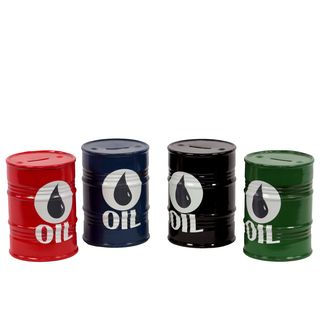 Ceramic Oil Barrel Money Banks (set Of 4)