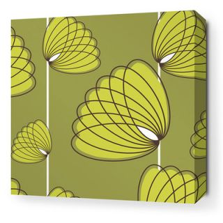 Inhabit Aequorea Lotus Graphic Art on Canvas in Grass and Lime LOTGRLSW Size: