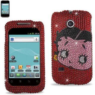 Reiko DPC HWM865 B21RD Betty Boop Fashionable Premium Bling Diamond Protective Case for Huawei Ascend II (M865)   1 Pack   Retail Packaging   Red: Cell Phones & Accessories