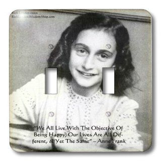 lsp_43110_2 Rick London Famous Wisdom Quote Gifts   Anne Frank   Being Happy Wisdom Quote Gifts   Light Switch Covers   double toggle switch   Multi Switch Plates