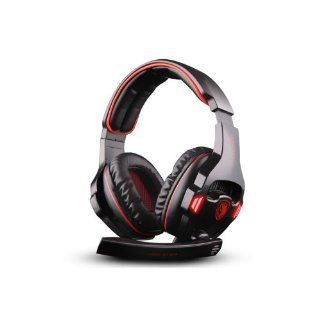 SADES SA 903 7.1 Sound Effect USB Gaming Headset Headphone Earset Earphone with Microphone Black / Red: Computers & Accessories