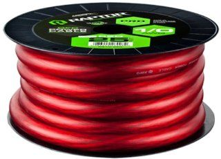 Raptor R51 0 25R 25 Fete Pro Series Oxygen Free Copper Power Cable, Red  Vehicle Amplifier Power And Ground Cables