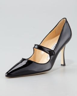 Campari Patent Leather Mary Jane   Manolo Blahnik