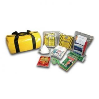 "Think Safe 911 90146 Yellow 3 Day Emergency Survival Kit for 1 Person, 8"" D x 14"" L: Science Lab First Aid Supplies: Industrial & Scientific"