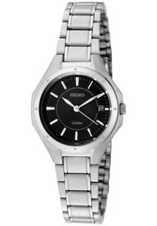 Seiko SXDE13P1  Watches,Womens Quartz Stainless Steel w/ Dark Grey Dial, Casual Seiko Quartz Watches