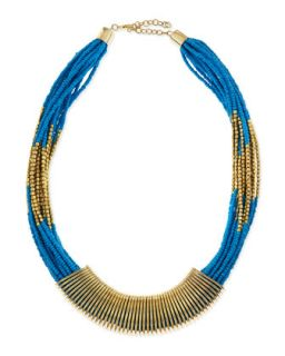 Coil Wrapped Bead Necklace   Jules Smith