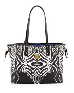 Shopper Project Reversible Tote Bag, Zebra   MCM