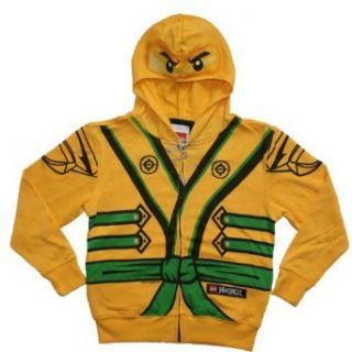 Lego Ninjago Boys 4 7 Gold Ninja Costume Hoodie (4) Clothing