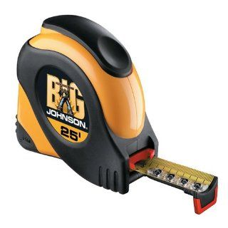 Johnson Level 925 Big Johnson 25 Foot by 1 Inch Measuring Tape   Quickdraw Measuring