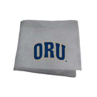 Oral Roberts Grey Sweatshirt Blanket 'ORU'  Sports Fan Throw Blankets  Sports & Outdoors