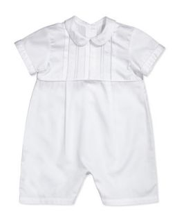 Bryce Christening/Baptism Short Playsuit, White   Kissy Kissy