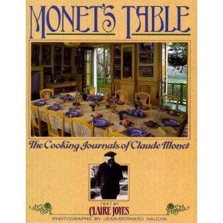 Monet's Table The Cooking Journals of Claude Monet Claire Joyes, Jean Bernard Naudin, Joel Robuchon 9781416541318 Books