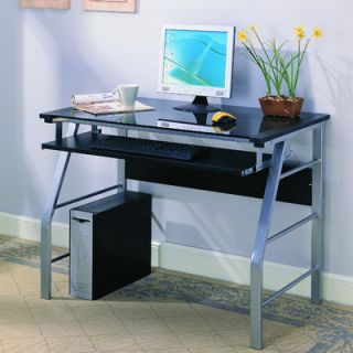 InRoom Designs Computer Desk with Tempered Glass 2950