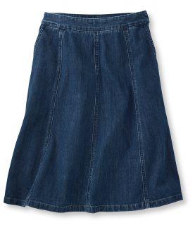 Gored Skirt, Denim Misses