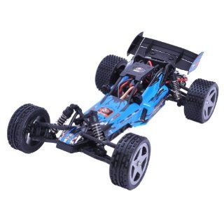 WLtoys L959 2.4Ghz 1:12 Scale 2 CH Radio Control Racing Car Buggy Model Blue RTR: Toys & Games