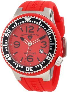 Swiss Legend Men's 21848P 05 Neptune Red Dial Red Silicone Watch Watches