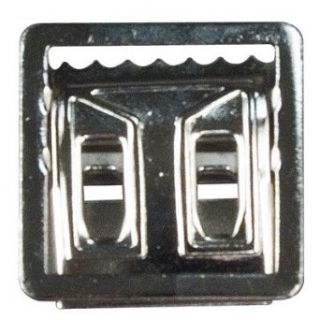 Chrome Plated Open Face Web Belt Buckle Clothing