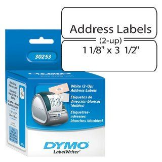 DYMO 30253 LabelWriter Self Adhesive Address Labels for PC Label Printers, 1 1/8  by 3 1/2 inch, White, Roll of 700