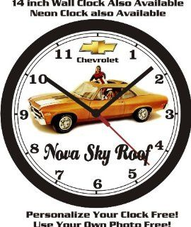 Shop 1972 CHEVROLET NOVA SKY ROOF WALL CLOCK FREE USA SHIP! at the  Home D�cor Store