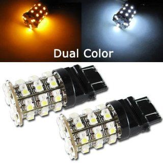 Orion Technology Dual Color White and Amber 7443 990 60 SMD Switchback LED Bulbs For Car Turn Signal,Parking Lights Automotive