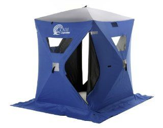 Clam� Expedition 5x6' Hub Pop   Up Icefishing Shelter  Fishing Ice Fishing Shelters  Sports & Outdoors