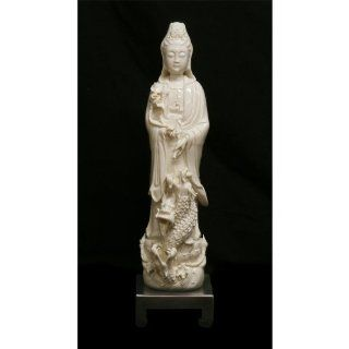 White Porcelain Kwan Yin Statue   Oriental Fountain