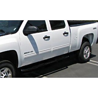 """Premium Custom Fit 2007 2014 Chevy Silverado/Gmc Sierra 1500 Crew Cab/2007 2013 Silverado/Sierra 2500/3500 Crew Cab (Excluding Diesel Models With Def Tanks) Black 3"""" Side Step Nerf Bars Running Boards(2pcs with Mounting Bracket Kit): Automotive"""