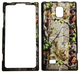 IMAGITOUCH(TM) 2 Item Combo For LG Spectrum 2 VS930 (Verizon) Rubberized Snap On Hard Shell Design Faceplate Case Cover Protector   Real Trees Camo Camouflage Hunting Green Leaves(Pry Tool, Phone Cover): Cell Phones & Accessories