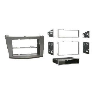 Metra 99 7514B Single or Double DIN Installation Dash Kit for 2010 Mazda 3, Painted Matte Black to Match Dash (Black)  Vehicle Receiver Universal Mounting Kits