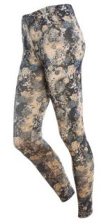 Ladies Printed Leggings with Mixed Floral Colors, Grey, One Size at  Women�s Clothing store: Leggings Pants