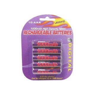 Lenmar Battery, PRO, AAA, 10 Pack, 1.2V 1000mAh NI MH : Digital Camera Batteries : Camera & Photo