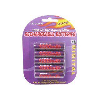 Lenmar Battery, PRO, AAA, 10 Pack, 1.2V 1000mAh NI MH : Digital Camera Batteries : Camera & Photo