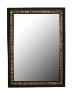 Apple Valley Mumbai Copper Gold Black Surround Framed Wall Mirror, 24 Inch by 60 Inch   Wall Mounted Mirrors