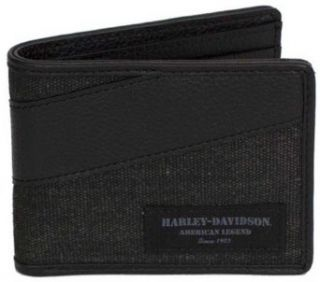 Harley Davidson Mens Grey/Black Canvas C4 Billfold Wallet CC8187S GRYBLK at  Men�s Clothing store: