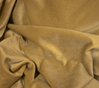 """Rich Beige Cream Cotton Velvet   Drapey Upholstery Fabric By the Yard 56"""" Wide"""