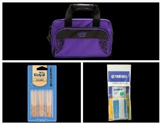 Alto Music Back To School Clarinet Bundle with Purple Gator Case and 3.0 Reeds Also Includes a Yamaha Clarinet Maintenance Cleaning kit and Rico Royal 3 Pack of Clarinet Reeds Siz Musical Instruments