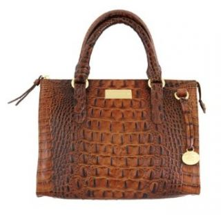 Brahmin Melbourne Anywhere Convertible Croc Bag Pecan: Clothing