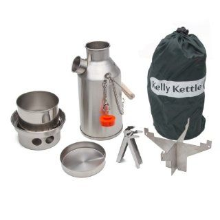 Camp Stove by Kelly Kettle. This Small Stainless Steel Trekker Cook Stove Complete Kit, is the perfect Camp Stove for Cooking, Hiking, Camping, Kayaking, Fishing, and Hunting. The very light and versatile Kelly Kettle Camp Stove is also ideal for Emergency
