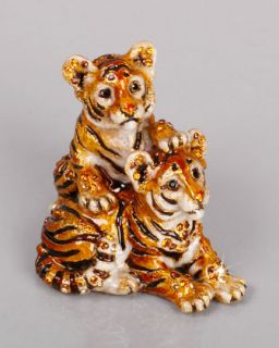 Theo & Max Tiger Cubs Figurine   Jay Strongwater