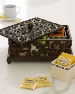 Five Section Divided Tea Box   GG Collection